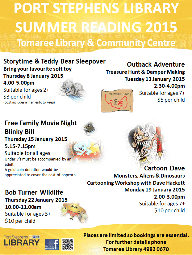 Port Stephens Library Summer Reading 2015